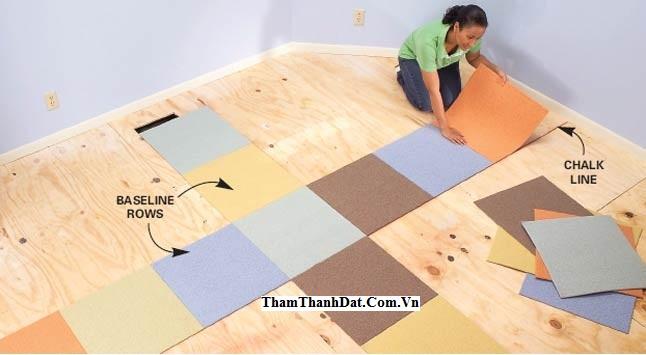 thảm tấm ghép cao su