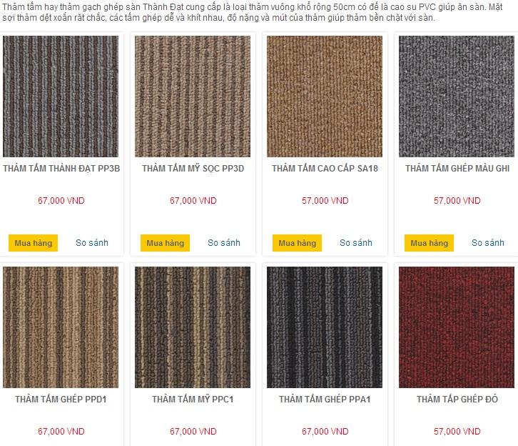 Thảm tấm ghép Thành Đạt nơi bán lẻ và đổ buôn thảm tốt và rẻ