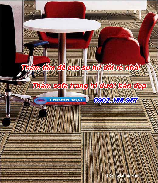 Lắp đặt thảm tấm cho không gian sàn đẹp