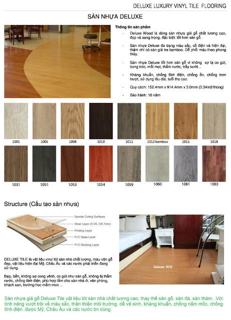 Sàn nhựa giả gỗ Deluxe 1008